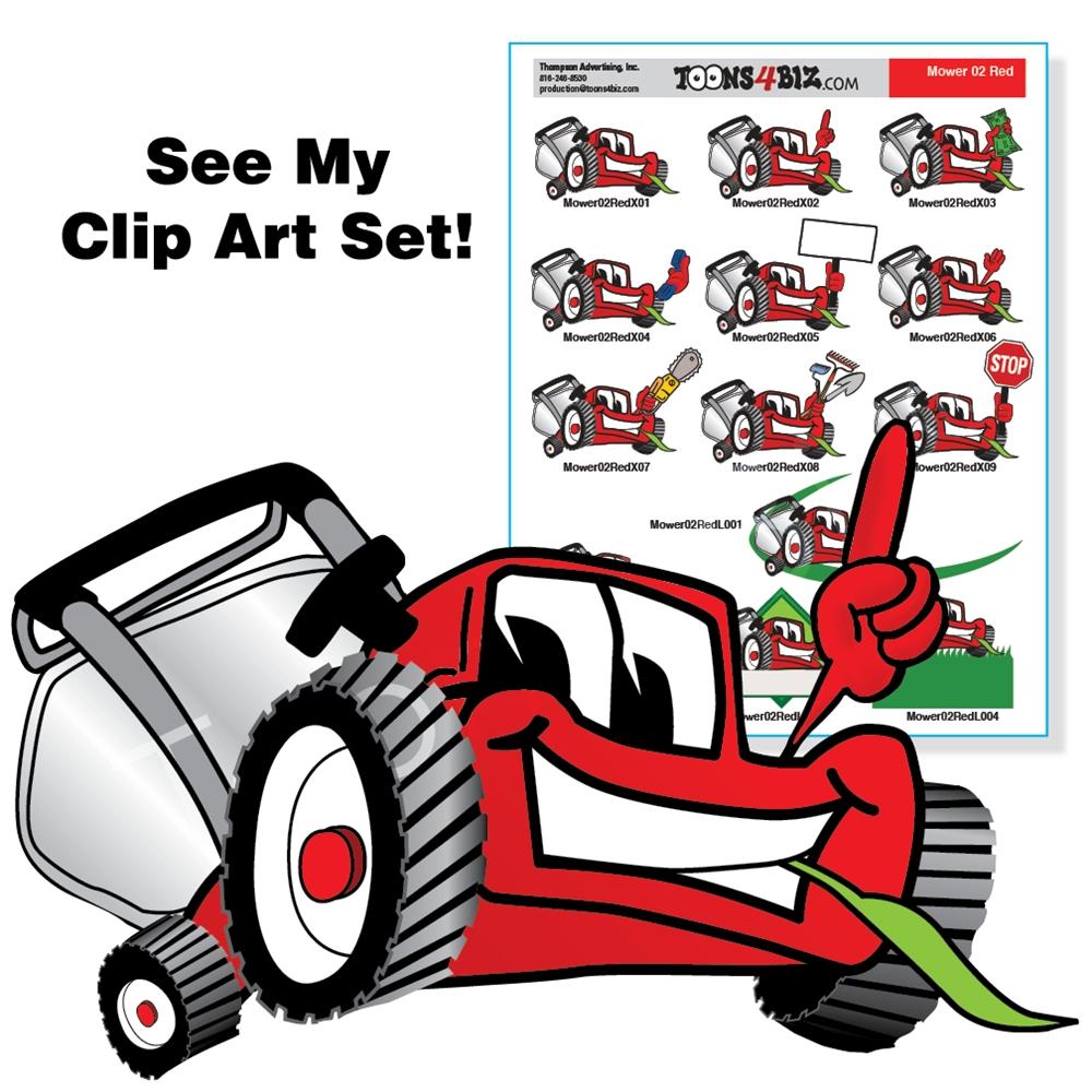 free cartoon lawn mower clipart - photo #15