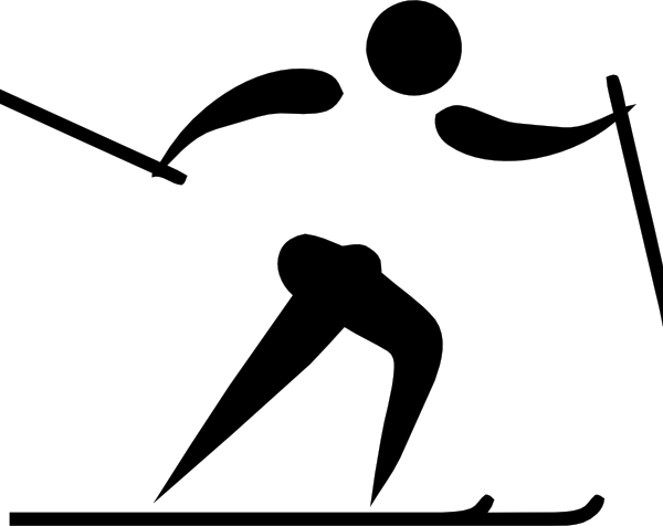 Olympic Sports Cross Country Skiing Pictogram clip art - vector ...