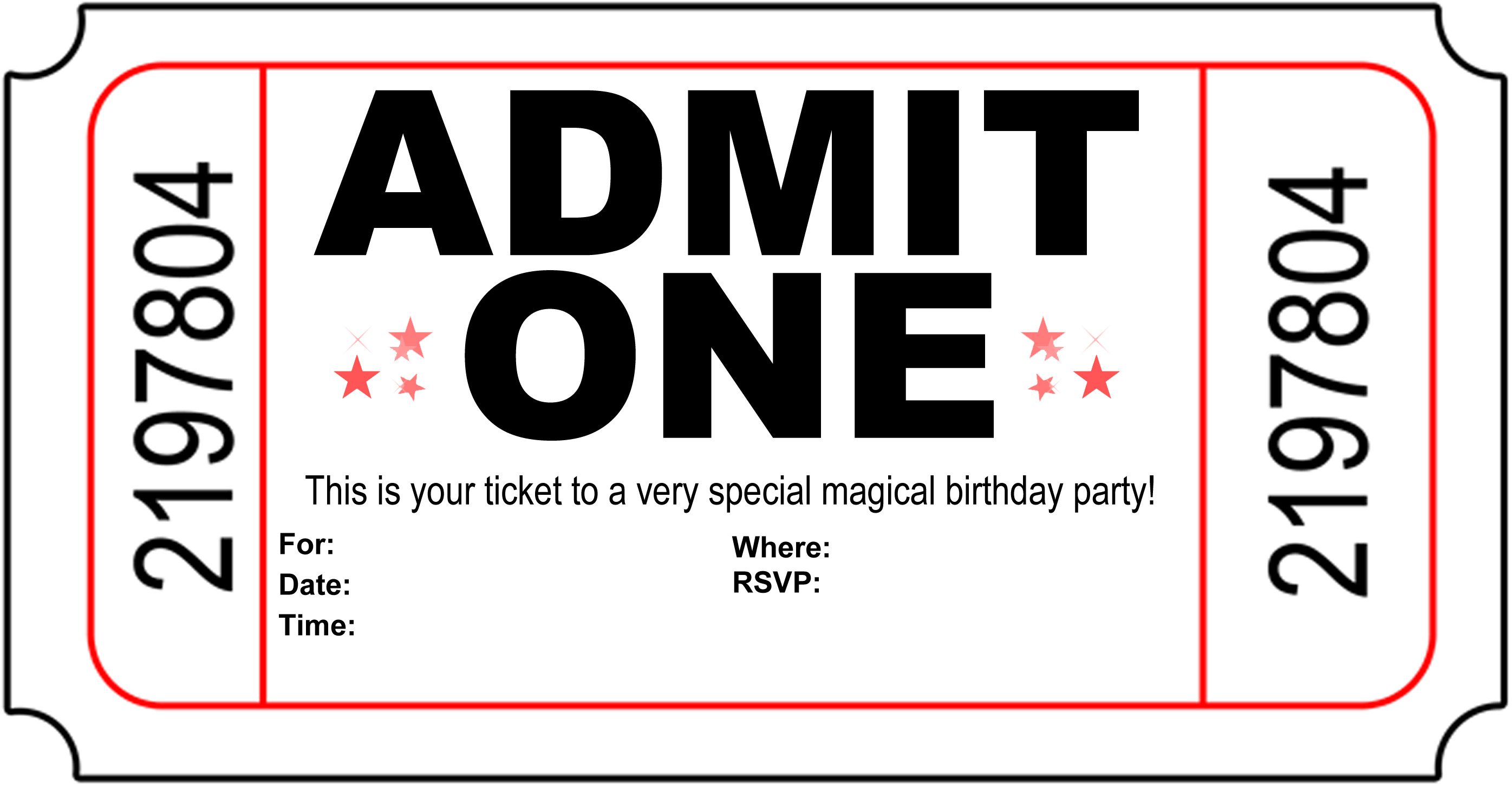 Free Party Invitation Templates gangcraftnet – Kids Birthday Invitations Printable
