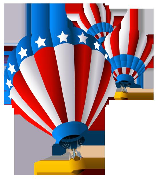 USA Air Balloon PNG Clipart