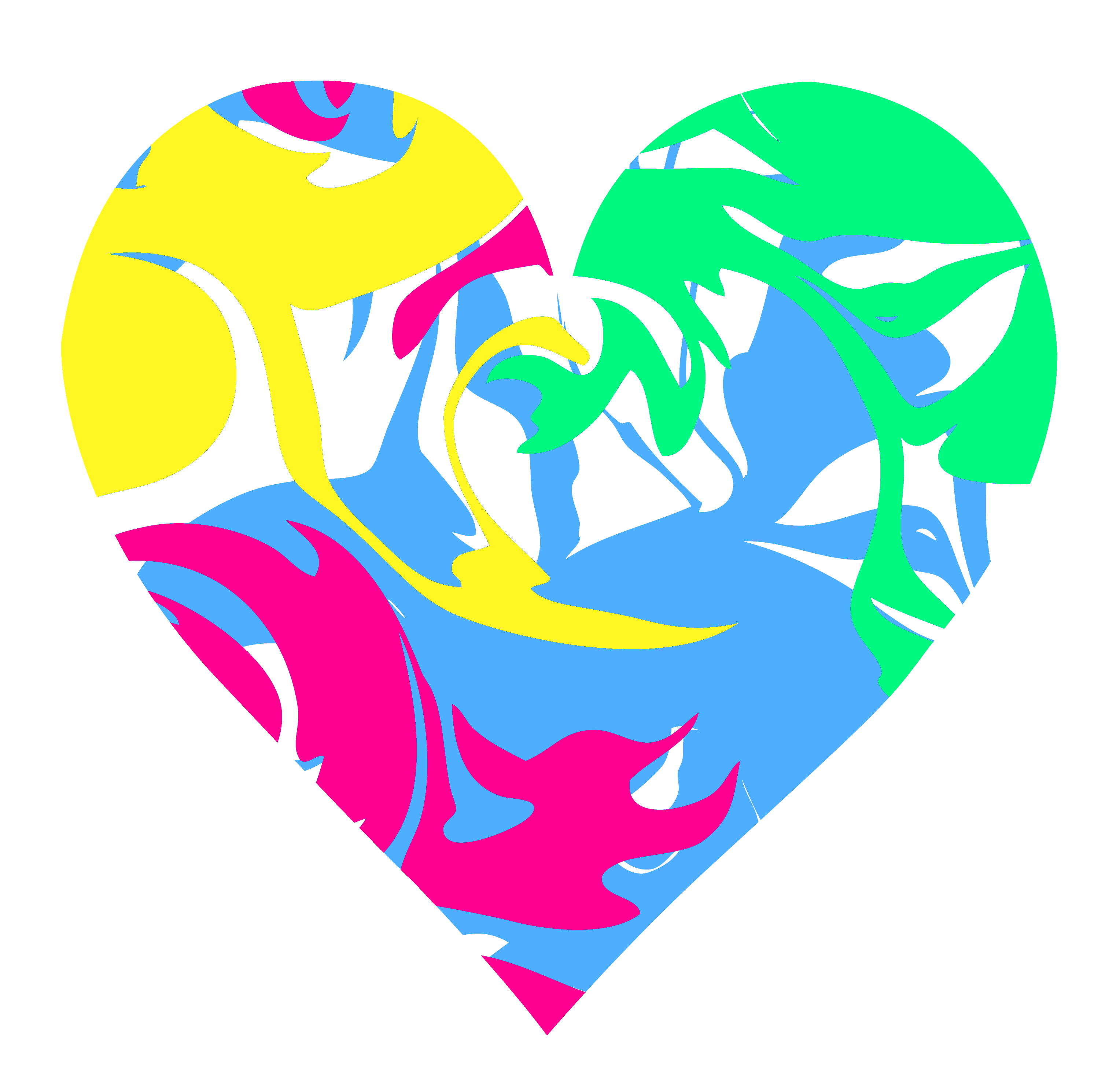 Colorful Swirly Heart - Free Clip Art