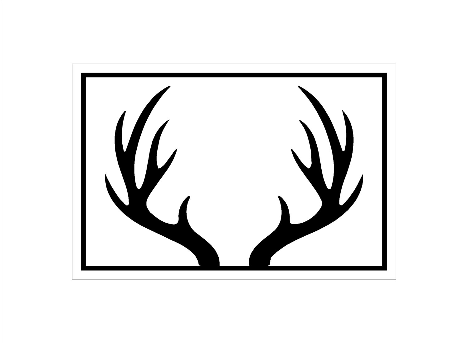 Popular Items For Antler Silhouette On Etsy - Cliparts.co