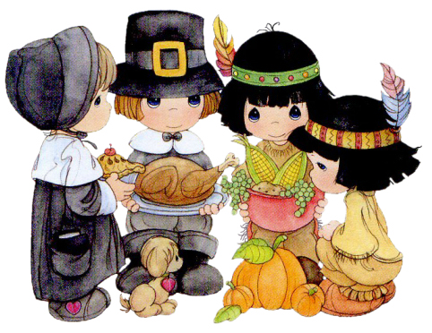 Precious Moments Kids Thanksgiving Cartoon Clipart Images Picture