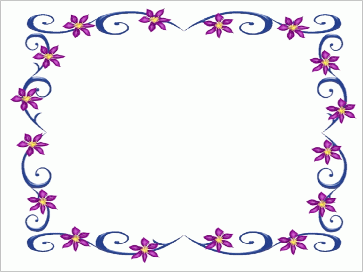 Purple Flower Border - Cliparts.co