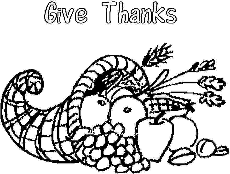 kaboose coloring pages thanksgiving meal - photo #43