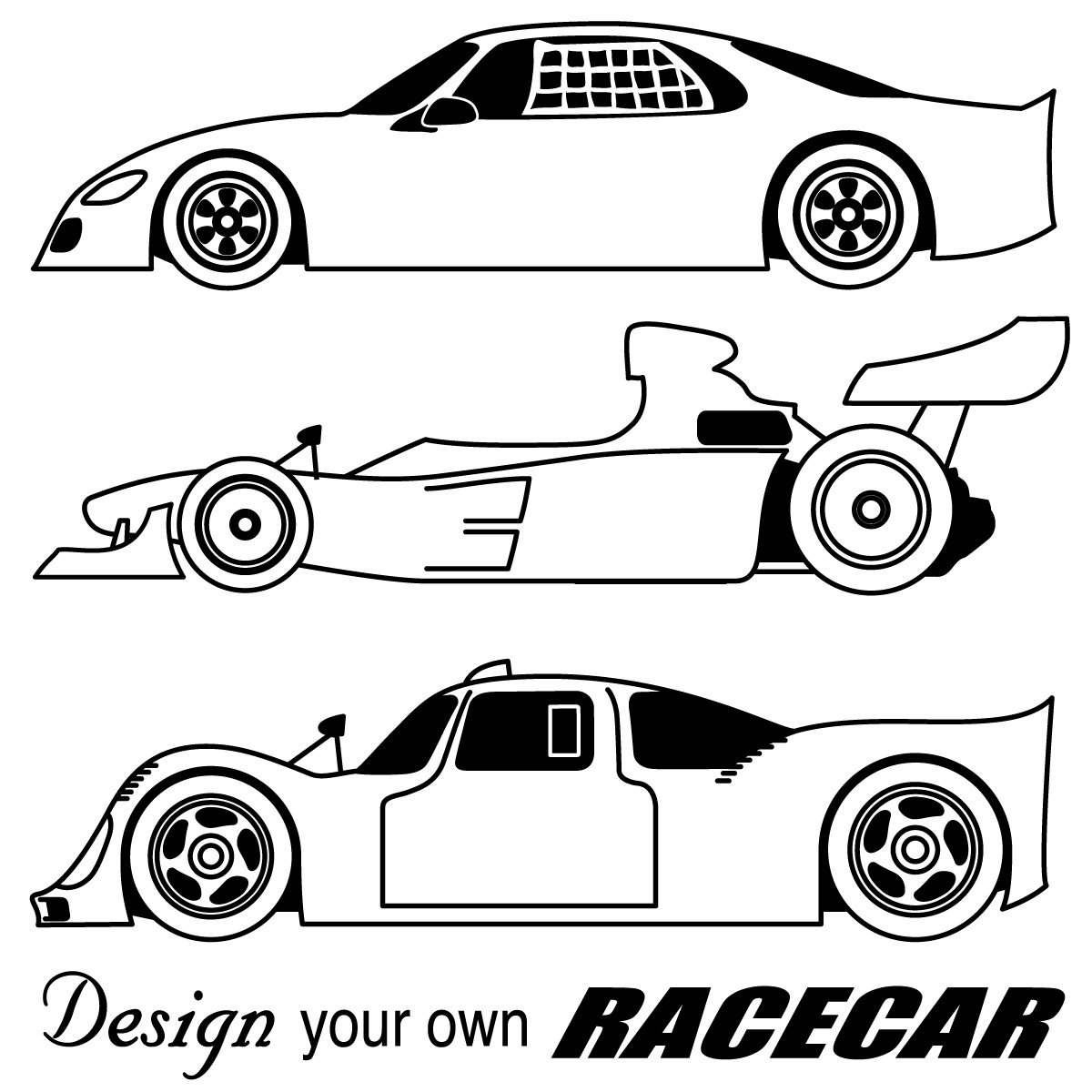 Free Race Car Coloring Pages #10