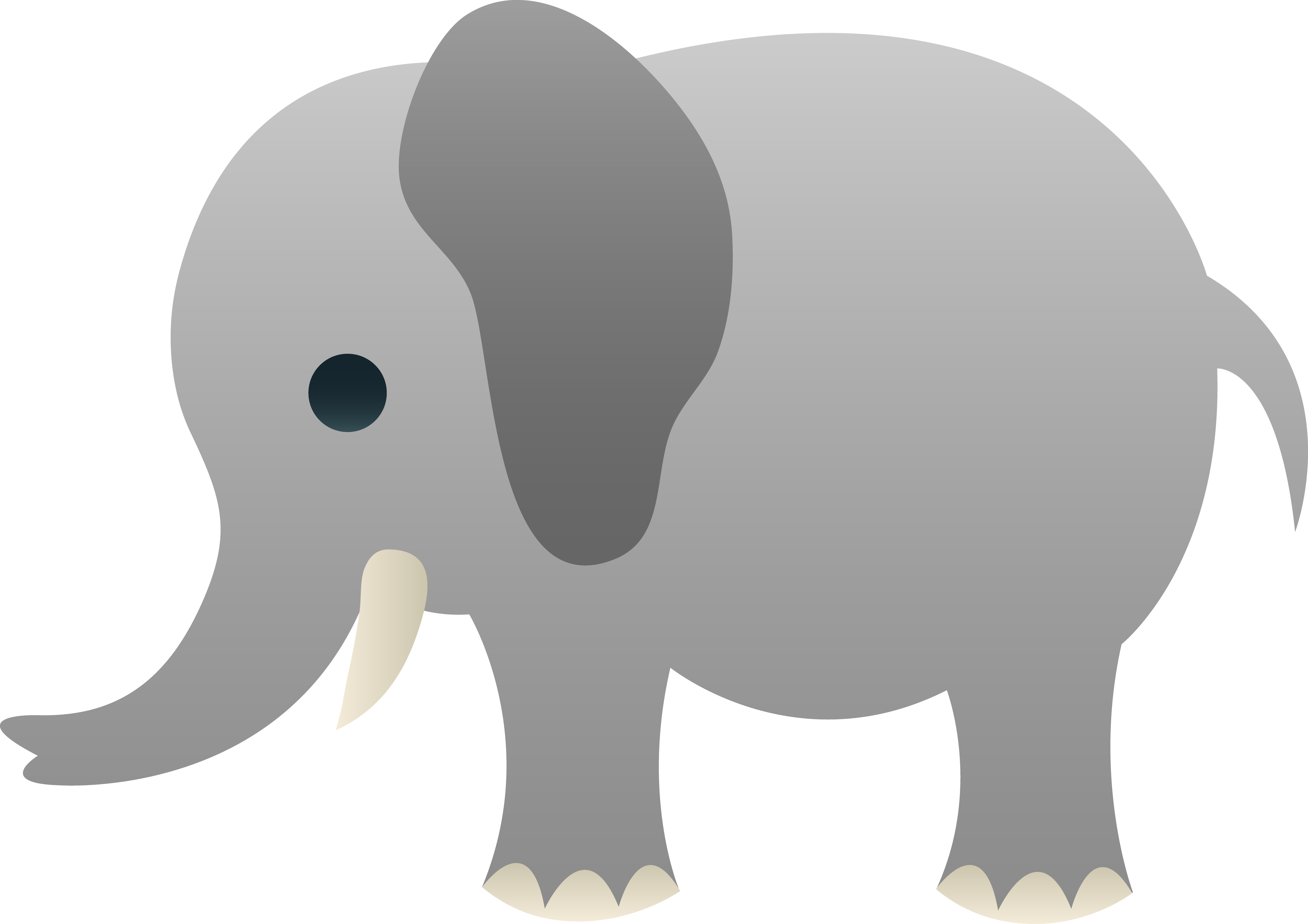 Little Gray Elephant Clip Art Free Clip Art Cliparts Co
