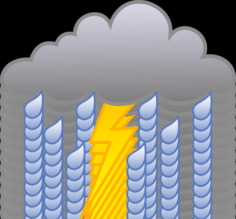 Рисунок дождя и молнии