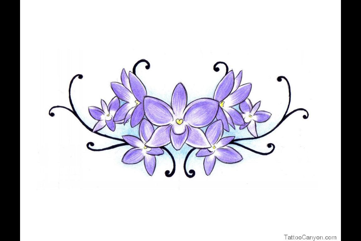 african violet tattoos. Black Bedroom Furniture Sets. Home Design Ideas