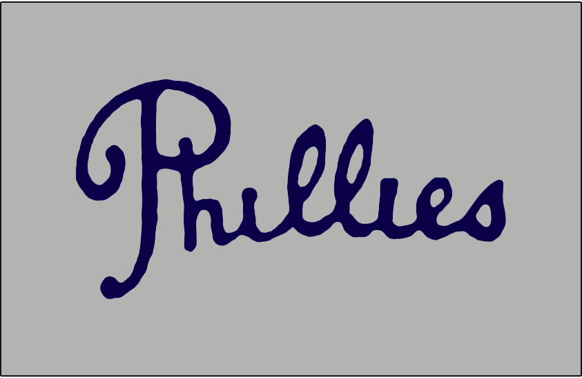 Philadelphia Phillies Jersey Logo - National League (NL) - Chris ...