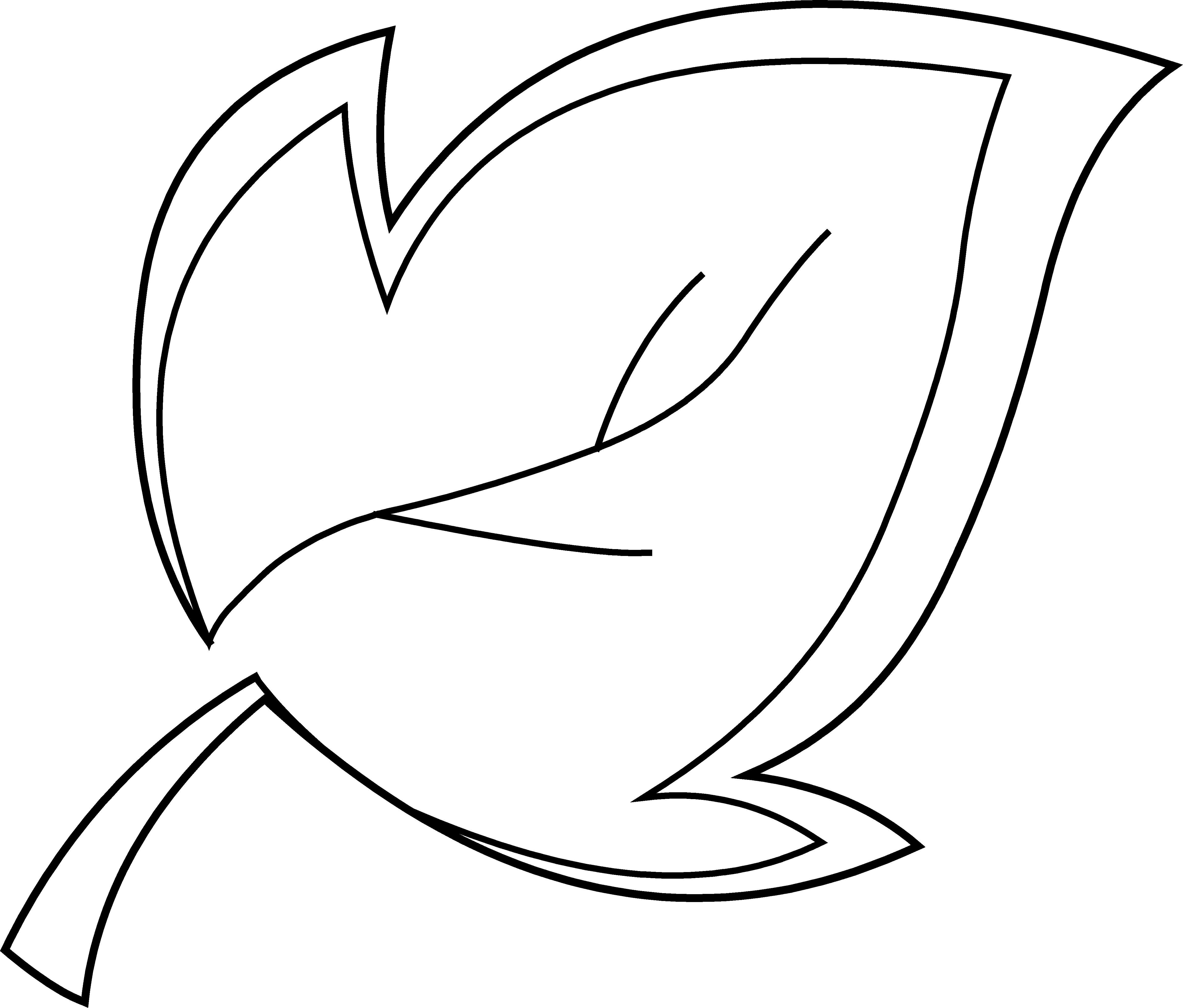 Line Drawing Leaves : Leaf line art cliparts