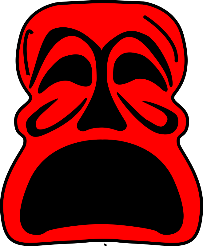 Red Mask Free Vector / 4Vector