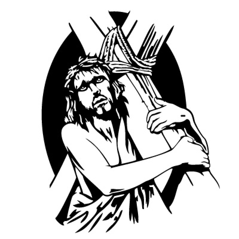 Jesus Carrying The Cross Tattoo Cliparts Co