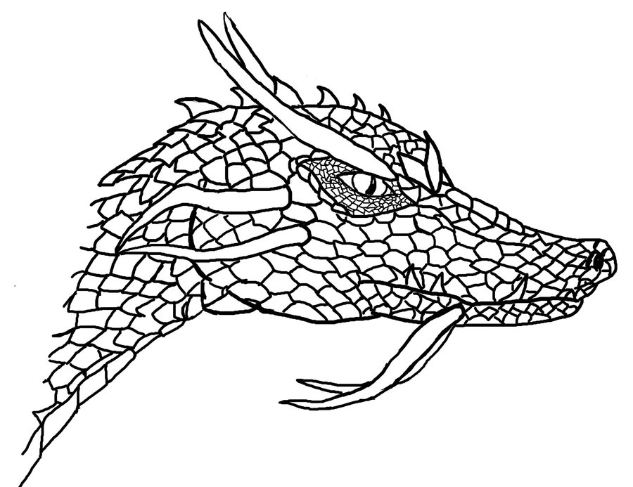 Simple Dragon Head Drawings Images & Pictures - Becuo