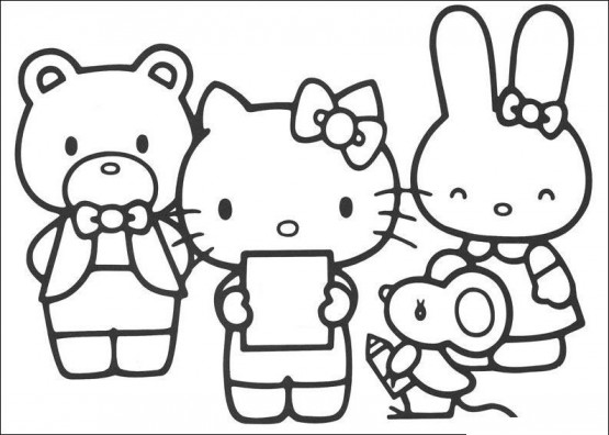 Gambar Kartun Hello Kitty Lucu Untuk Diwarnai Terbaru Cliparts Co