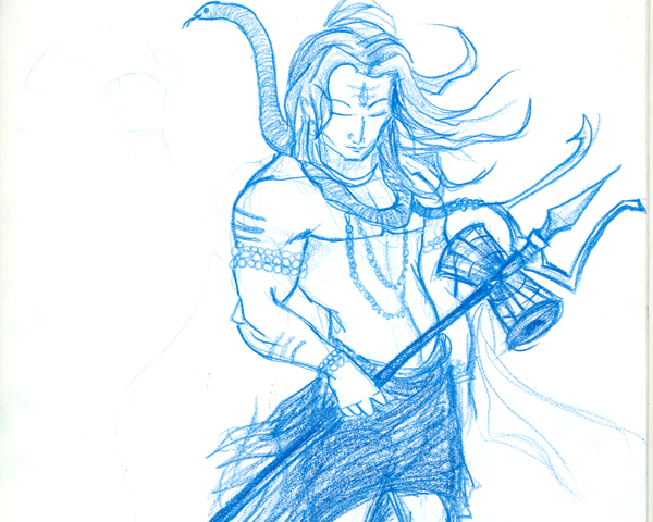 Shiva Sketch - Cliparts.co