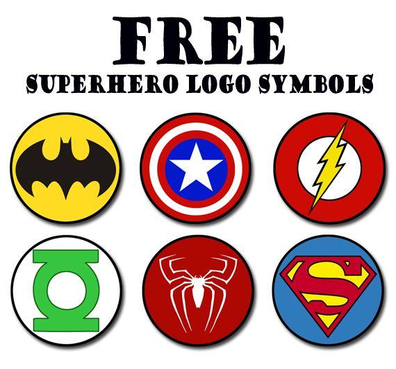 superhero logos clipartsco