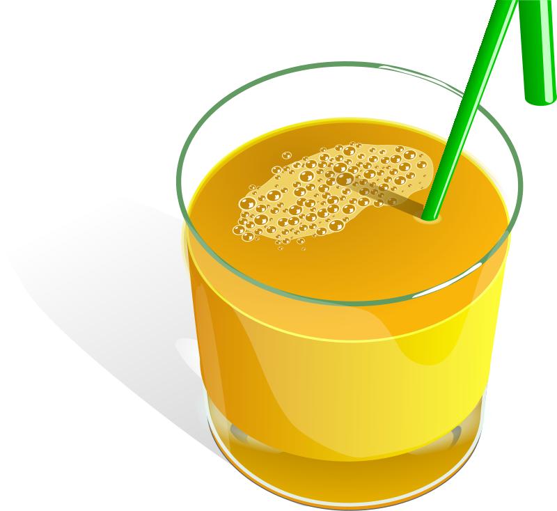Cartoon Juice Glass Glass of Juice Clipart