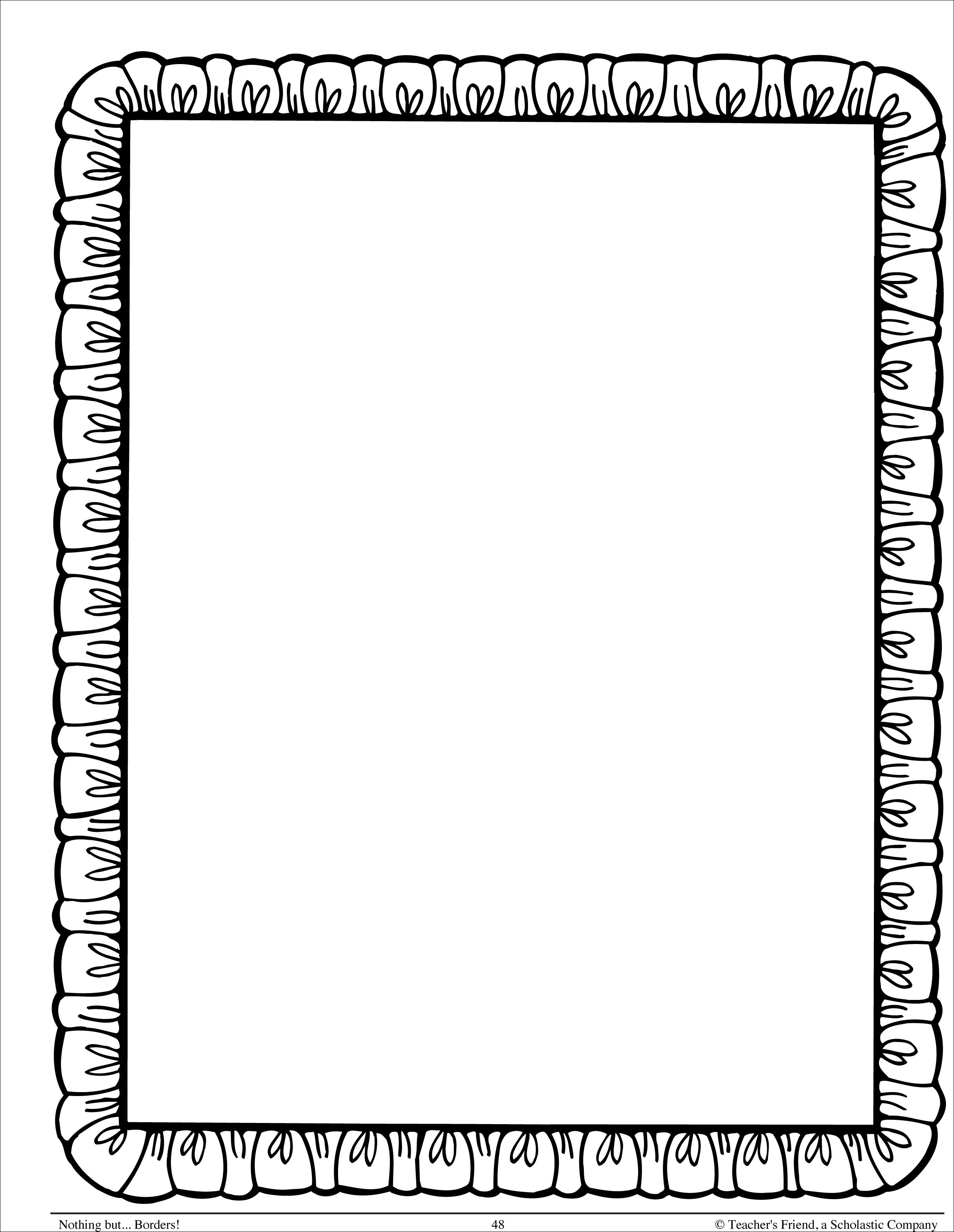 Simple Border Designs For School Projects To Draw - Cliparts.co