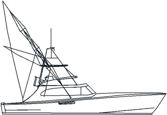 Art Line Yacht Design : Boat outline cliparts