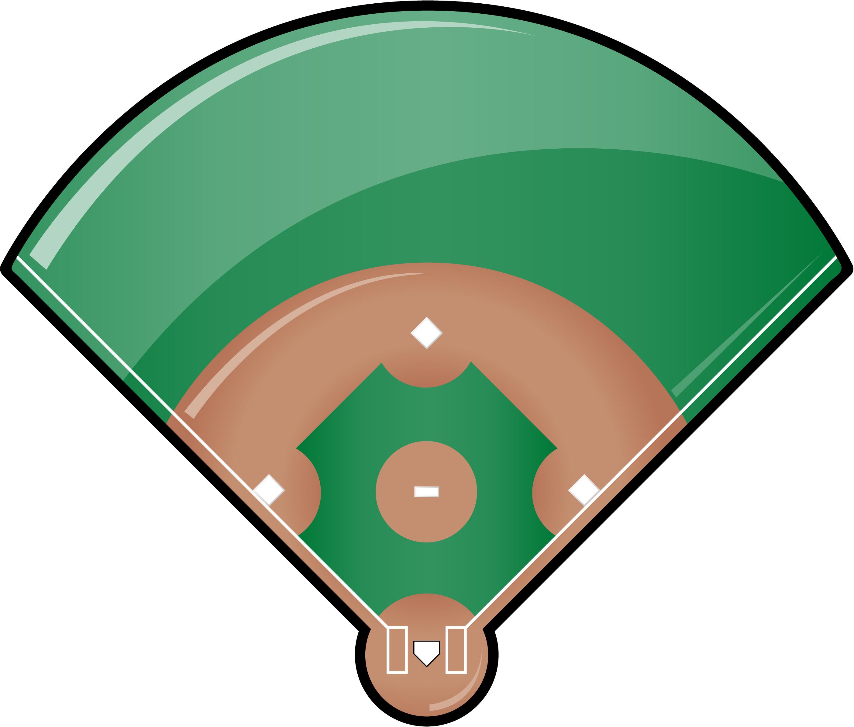baseball field cartoon clipartsco