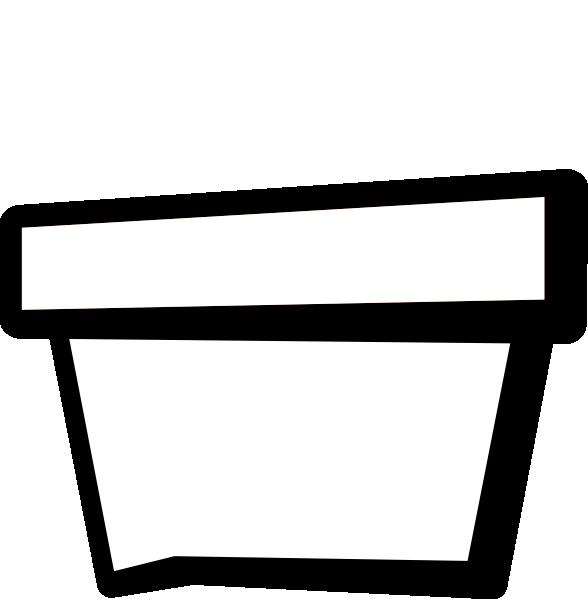 Flower Pot Outline