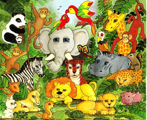 Jungle animals pictures