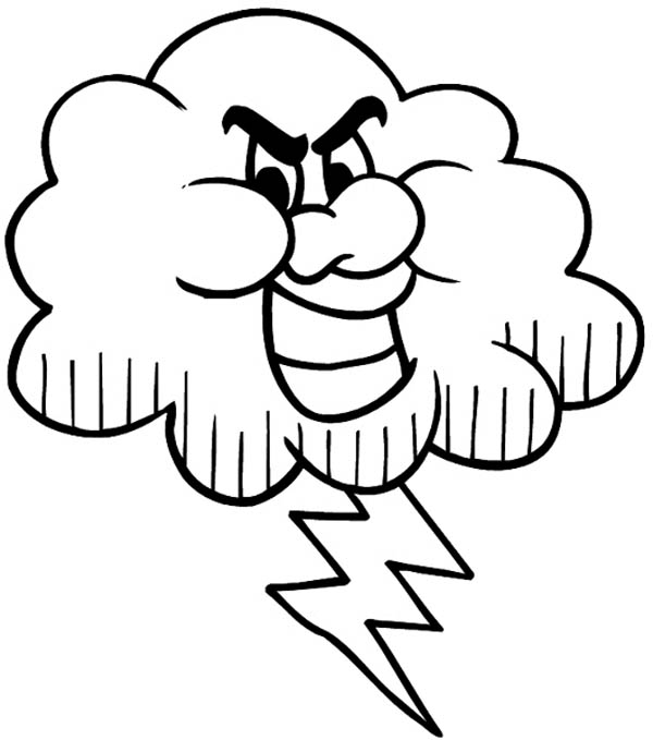 Lightning Bolt Coloring Page Cliparts Co