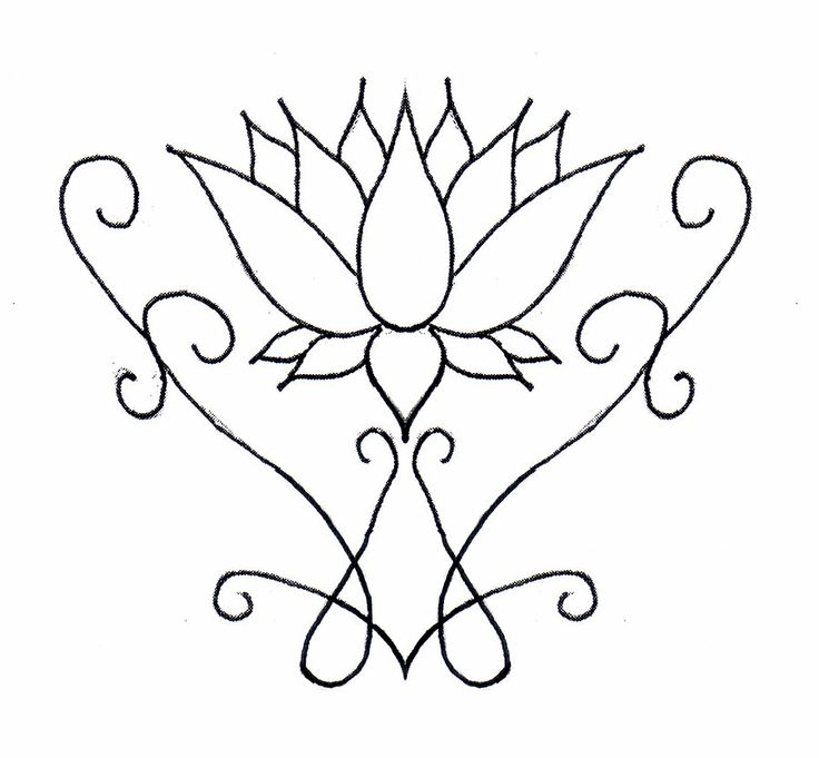 Henna Lotus Flower Tattoo The Simple Design Can Easily