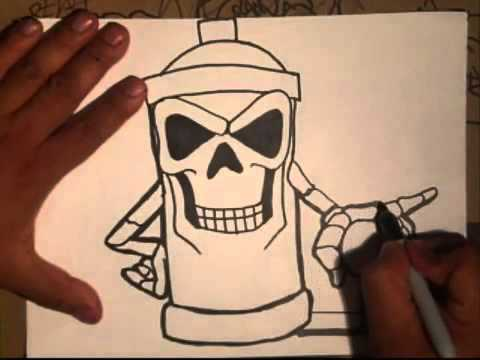 drawing a skull spraycan characters by cholowiz youtube cliparts. Black Bedroom Furniture Sets. Home Design Ideas