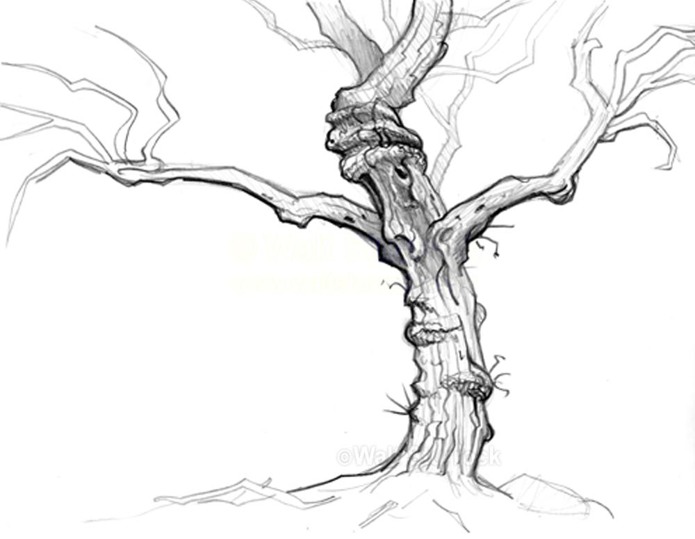 scary tree clipartsco