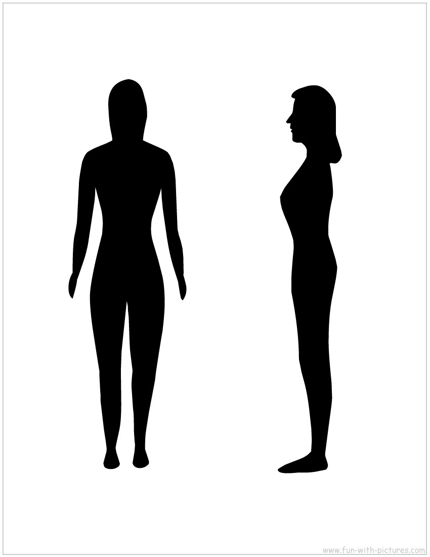 graphic regarding Printable Silhouettes called Printable Blank Lady Silhouette Mike Folkerth - King Of