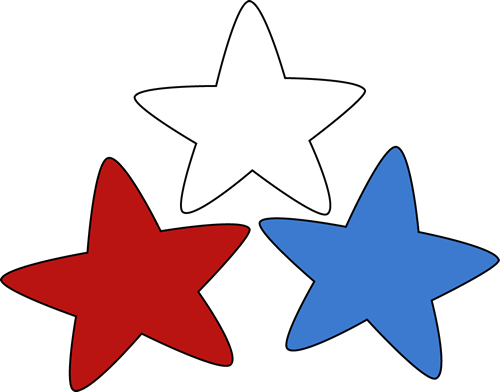 Red White And Blue Stars Clipart - Cliparts.co
