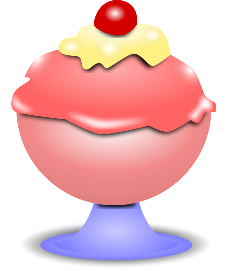 Ice Cream Cone with a Cherry Clipart, vector clip art online ...