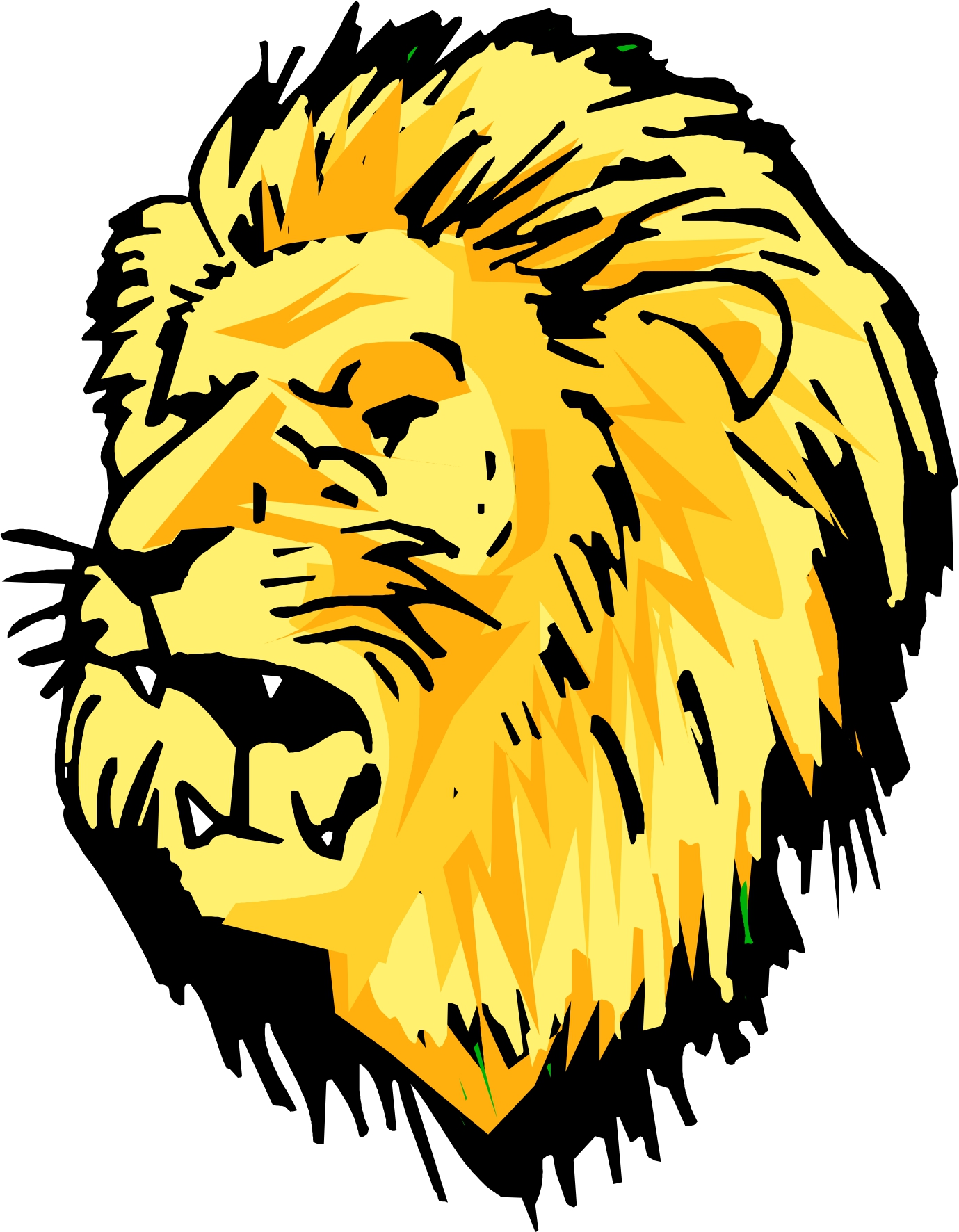 Cartoon Lion Head Images & Pictures - Becuo