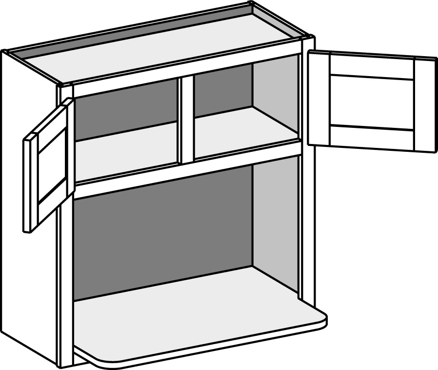 Wall Microwave Shelf Cabinet Double Doors The Cabinet