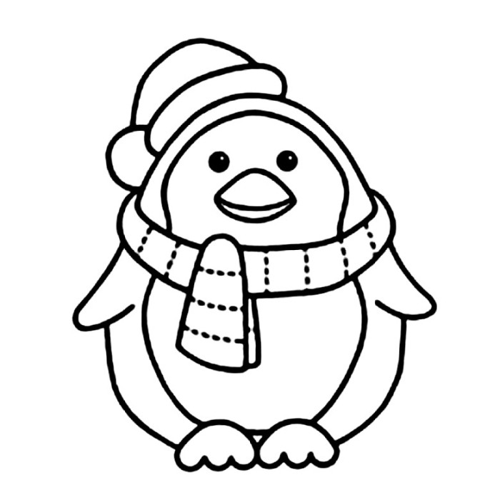 Cartoon Penguin Coloring Pages - Cliparts.co