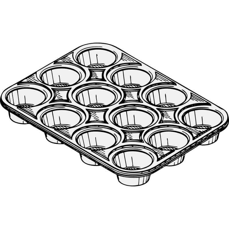 Cake Tin Clipart : Cupcake Line Drawing - Cliparts.co