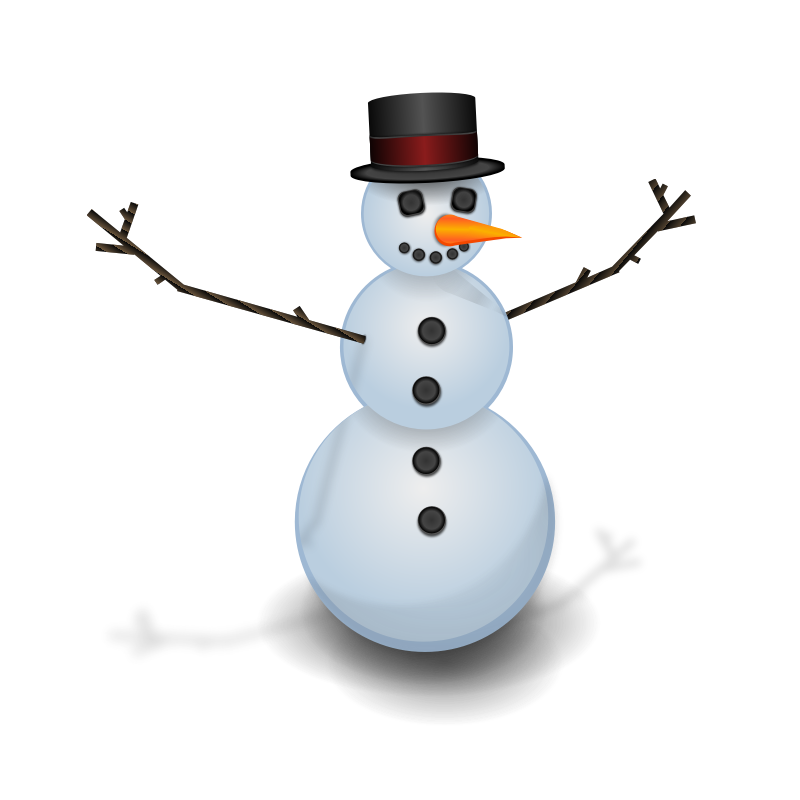 Clipart - Snow man with hat