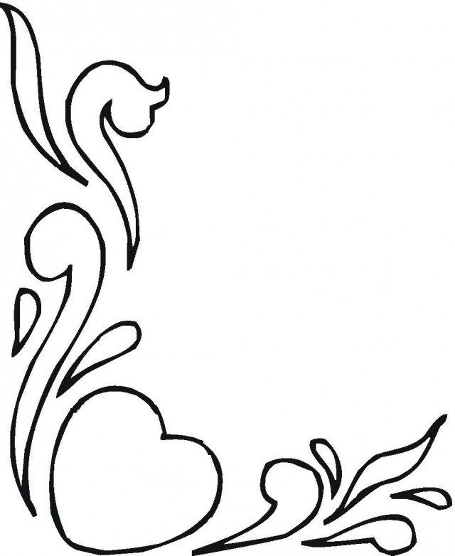 Photos of hearts and flowers clipart best 151096 coloring pages