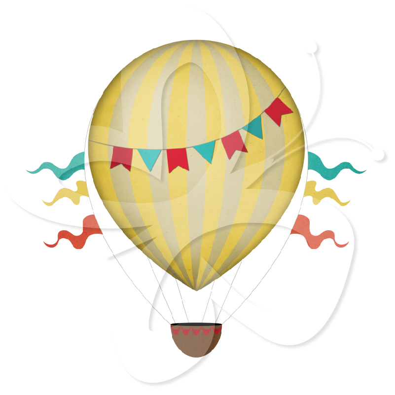 Vintage Hot Air Balloon Clip Art | Clipart Panda - Free Clipart Images