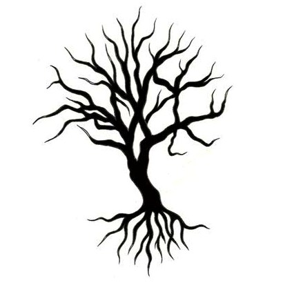 black and white tree tattoos. Black Bedroom Furniture Sets. Home Design Ideas