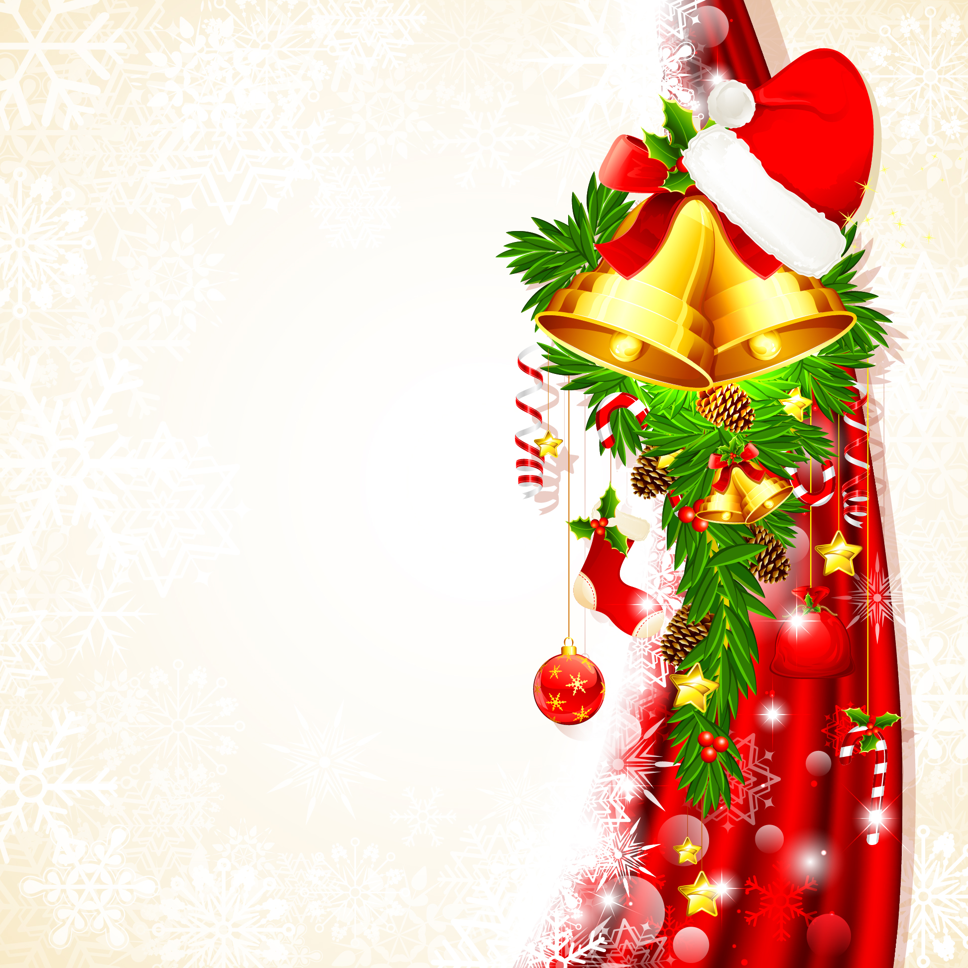 Cartoon christmas background clipart