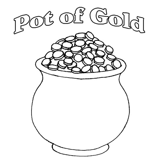 Clean image in pot of gold printable