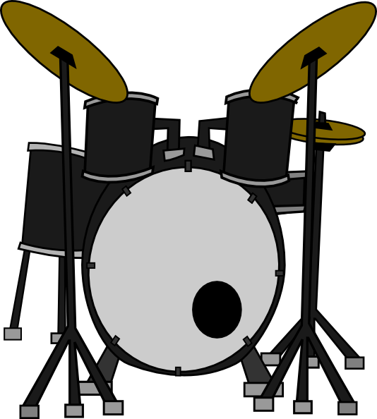 Red Drum Set Clipart Drum Set Clipart
