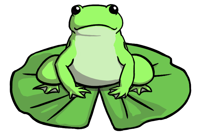 Frog On Lily Pad Clip Art - Cliparts.co