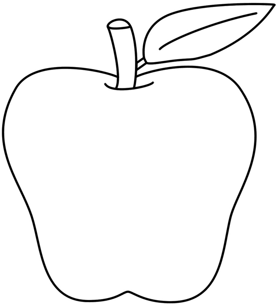 Small Apple Coloring Pages : Free printable food pictures cliparts