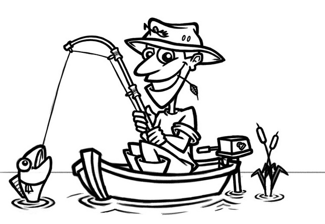 Cartoon fisherman in boat | Flickr - Photo Sharing! - ClipArt Best ...