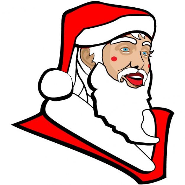 Santa Claus Face With Long Beard (.) - Cartoon vector #50475 ...