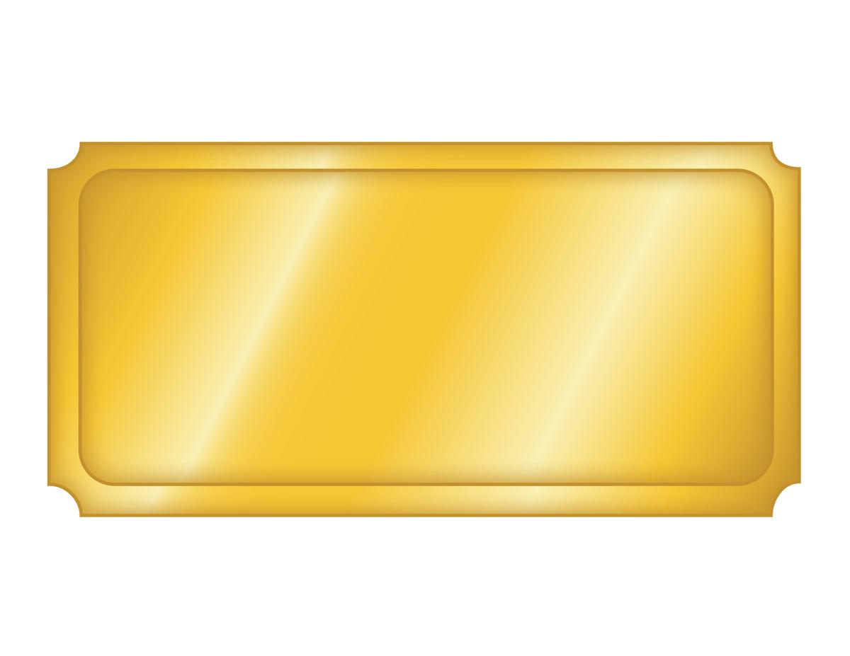 Free Printable Golden Ticket Templates   Blank Golden Tickets
